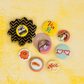 Bloom Girl Flair Buttons - Prima