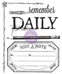 Stationer's Desk Daily Clear Stamp - Prima