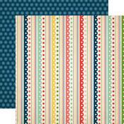 Festive Stripes Paper - It's A Celebration - Carta Bella