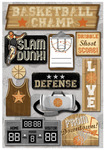 Basketball Champ Cardstock Stickers - Karen Foster