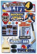 Hockey 4 Life Cardstock Stickers - Karen Foster