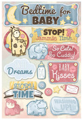 Bedtime For Baby Cardstock Stickers - Karen Foster