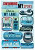 Swimming Is My Sport Cardstock Stickers - Karen Foster