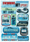 Swimming Is My Sport Cardstock Stickers - Karen Foster