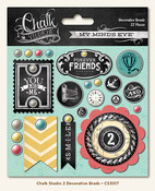 Chalk Studio 2 Decorative Brads - My Minds Eye