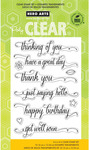 Messages With Flourish Clear Stamps - Hero Arts