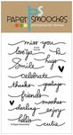 Scripty Sayings Clear Stamps - Paper Smooches