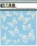 Monarch Butterfly 6 x 6 Mask Stencil - Clear Scraps