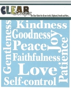 Fruit Of The Spirit 6 x 6 Mask Stencil - Clear Scraps