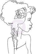 Hope Bloom Girl #4 Cling Stamp - Bloom - Prima