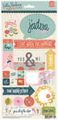 Mon Ami Title Stickers - Basic Grey