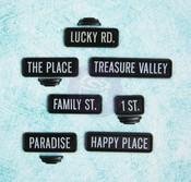 Black Street Signs - Junkyard Findings - Prima