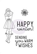 Warm Wishes Cling Stamp Set - Mixed Media Doll - Prima