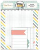 Misc Me Baby Bump Notepaper - Bo Bunny