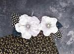 Plume Platinum White Fabric Flowers - Prima