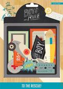 Boys Rule Chipboard Die Cuts - Crate Paper