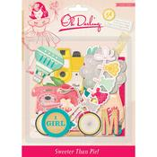 Oh Darling Chipboard Stickers - Crate Paper
