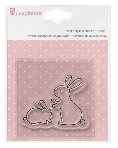 Bunny Snag 'Em Stamps - My Baby - Girl - Imaginisce