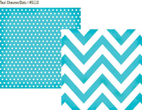 Teal Chevron - Dots Paper - DIY Boutique - Simple Stories