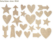Arrows Burlap Stickers - DIY - Simple Stories