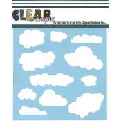 Clouds 6 x 6 Mask Stencil - Clear Scraps