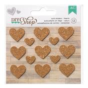 Hearts Cork Stickers - DIY Shop - American Crafts