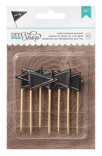 Pennant Chalkboard Toothpicks - DIY Shop - American Crafts