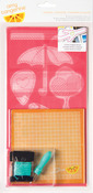 Teammate Icon Plus One Embroidery Stencil Kit - Amy Tangerine
