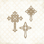 Ornate Crosses Laser Cut Chipboard - Blue Fern Studio