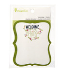 Welcome Spring Die Cut Tags - Imaginisce
