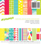 # Summer 6 x 6 Paper Pad - American Crafts