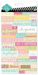 Dreamy Word Jumble Stickers - Heidi Swapp