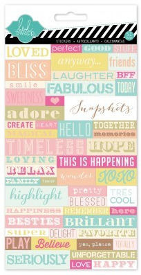 Dreamy Word Jumble Stickers - Heidi Swapp