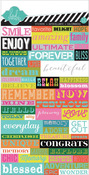 Favorite Things Word Jumble Stickers - Heidi Swapp
