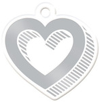 Heart Silver Embossed Tag - We R Memory Keepers