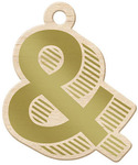 Ampersand Gold Wood Tag - Sheer Metallic - We R Memory Keepers