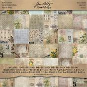 Wallflower Idea-ology 12 x 12 Paper Pad - Tim Holtz