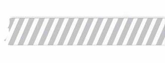 Grey & White Stripe Washi Tape - Glitz