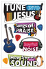 Tune Into Jesus 3D Stickers - Paper House