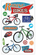 Riding Bikes 3D Stickers - Paper House