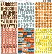 77 Alphas & Words Sticker Sheet - Glitz