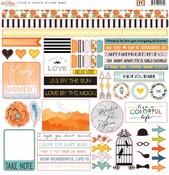 77 Titles & Accents Sticker Sheet - Glitz