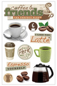 Coffee Talk 3D Stickers - Paper House