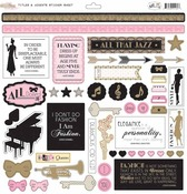 All Dolled Up Titles & Accents Sticker Sheet - Glitz