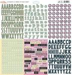 All Dolled Up Alpha & Word Sticker Sheet - Glitz