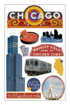 Chicago 3D Stickers - Paper House