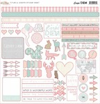 Carpe Diem Titles & Accent Sticker Sheet - Glitz