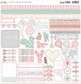 Carpe Diem Titles & Accent Sticker Sheet - Glitz