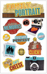 Family Portrait 3D Stickers - Paper House Productions