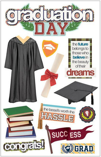 Graduation Day 3D Stickers - Paper House Productions
